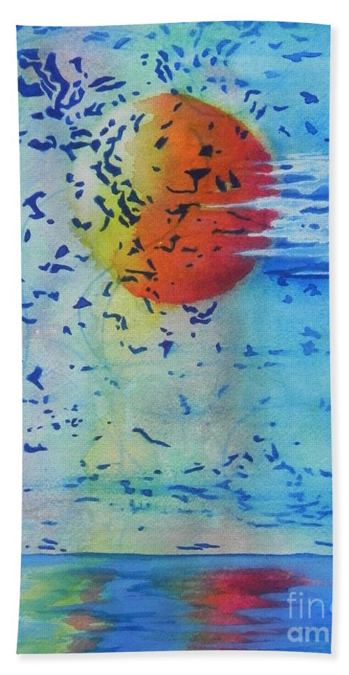 Fine Art Painting Bath Sheet featuring the painting Mother Nature At Her Best by Chrisann Ellis