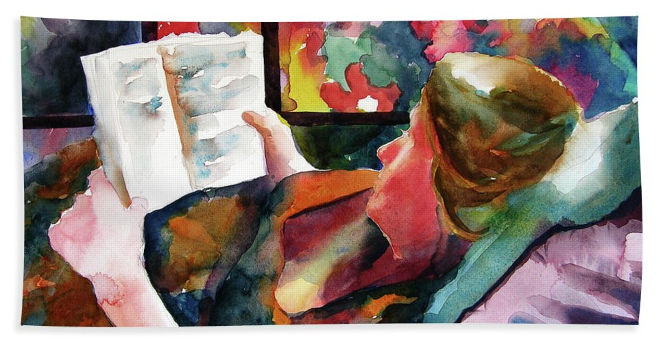 Art Bath Sheet featuring the painting Mother To Be by Julianne Felton