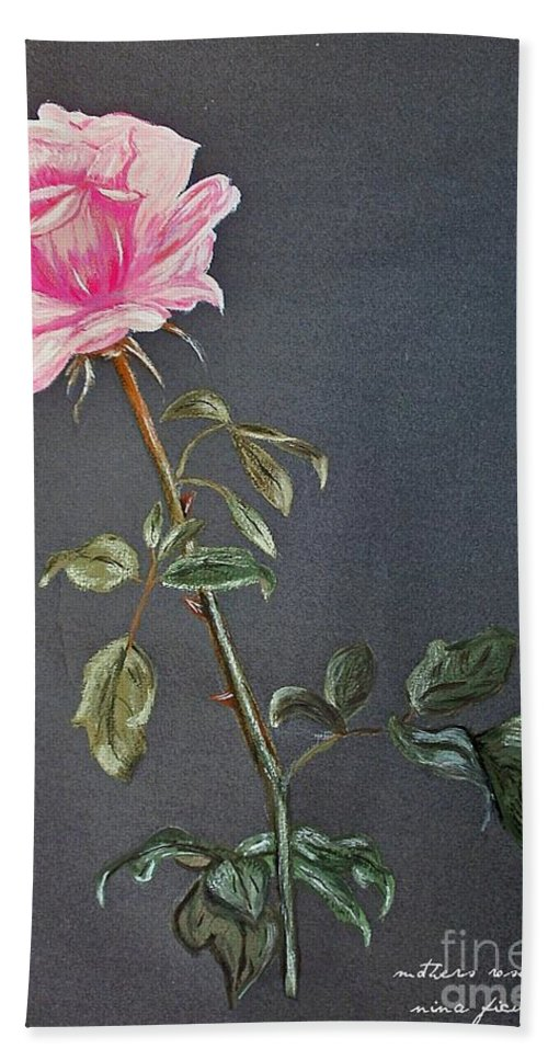 Mothers Rose Bath Sheet featuring the photograph Mothers Rose by Nina Ficur Feenan