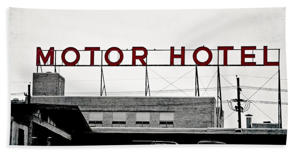 Hotel Hand Towel featuring the photograph Motor Hotel by Scott Pellegrin