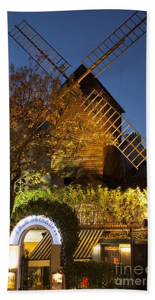Butte Hand Towel featuring the photograph Moulin De La Galette by Brian Jannsen