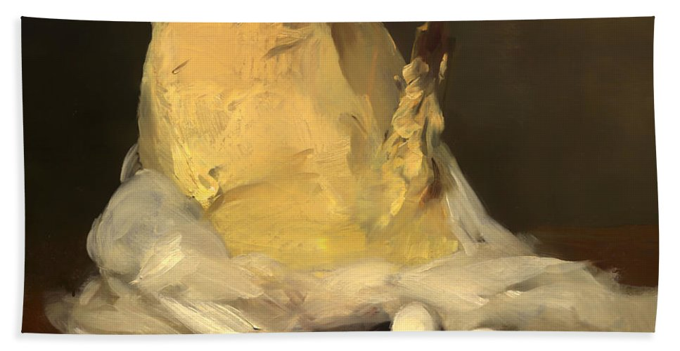Painting Bath Sheet featuring the painting Mound Of Butter by Mountain Dreams
