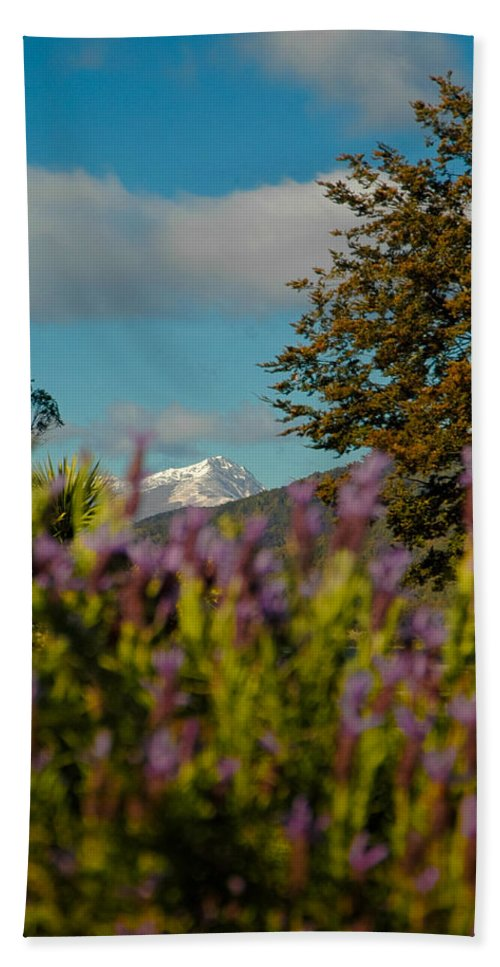 Blue Hand Towel featuring the photograph Mount Cook by Mark Llewellyn