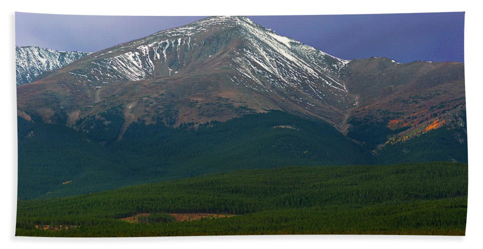 Mt. Elbert Hand Towel featuring the photograph Mount Elbert by Brian Kerls