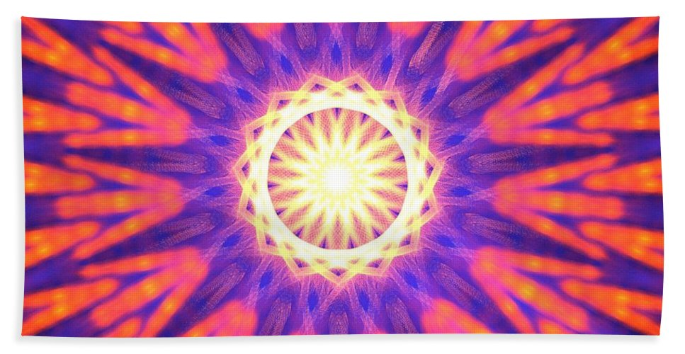 Apophysis Hand Towel featuring the digital art Mount Pinatubo by Kim Sy Ok