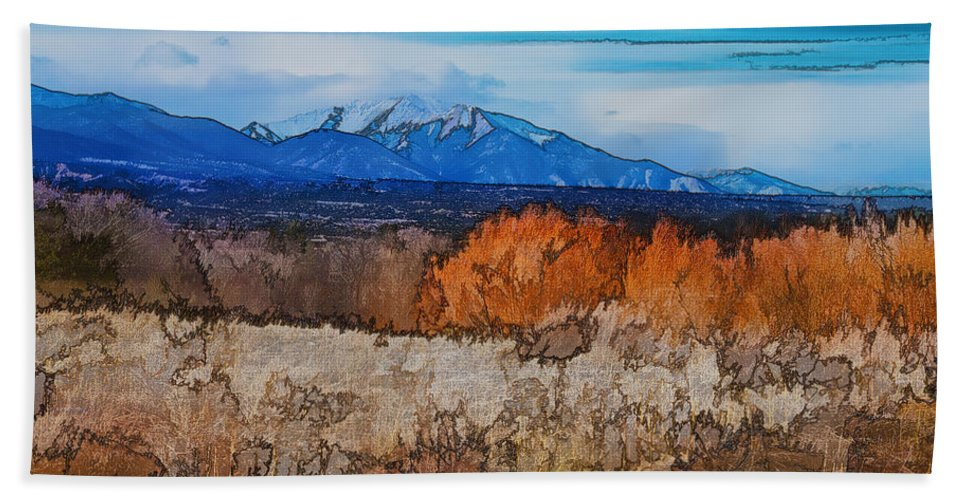 Topaz Bath Sheet featuring the photograph Mount Princeton by Charles Muhle