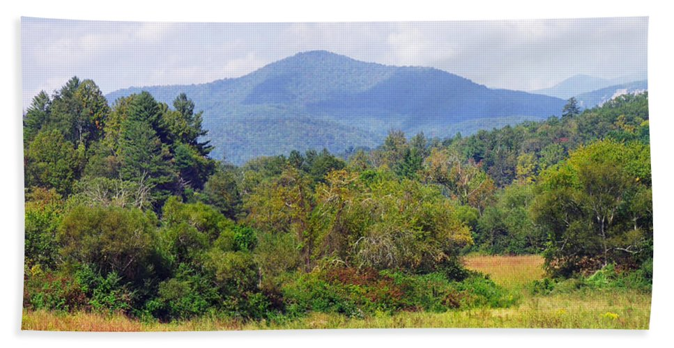 Landscapes Bath Sheet featuring the photograph Mountain And Valley Near Brevard by Duane McCullough