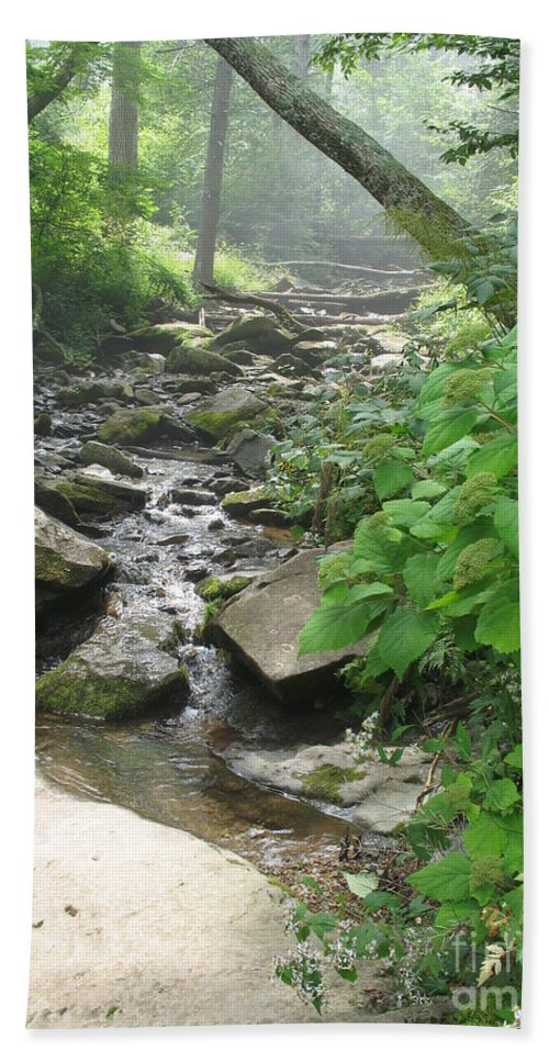 Brook Hand Towel featuring the photograph Mountain Brook by Christiane Schulze Art And Photography
