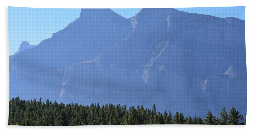 Canada Hand Towel featuring the photograph Mountain Contrasts by Cheryl Miller