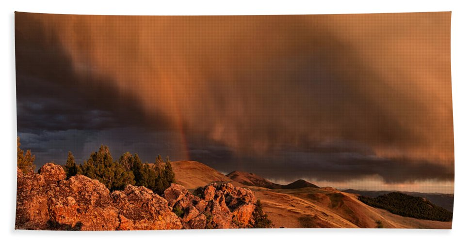 Lost River Mountains Hand Towel featuring the photograph Mountain Drama by Leland D Howard