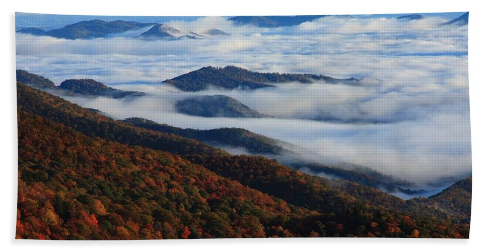 Sea Of Clouds Bath Sheet featuring the photograph Mountain Fog - Blue Ridge Parkway by Mountains to the Sea Photo