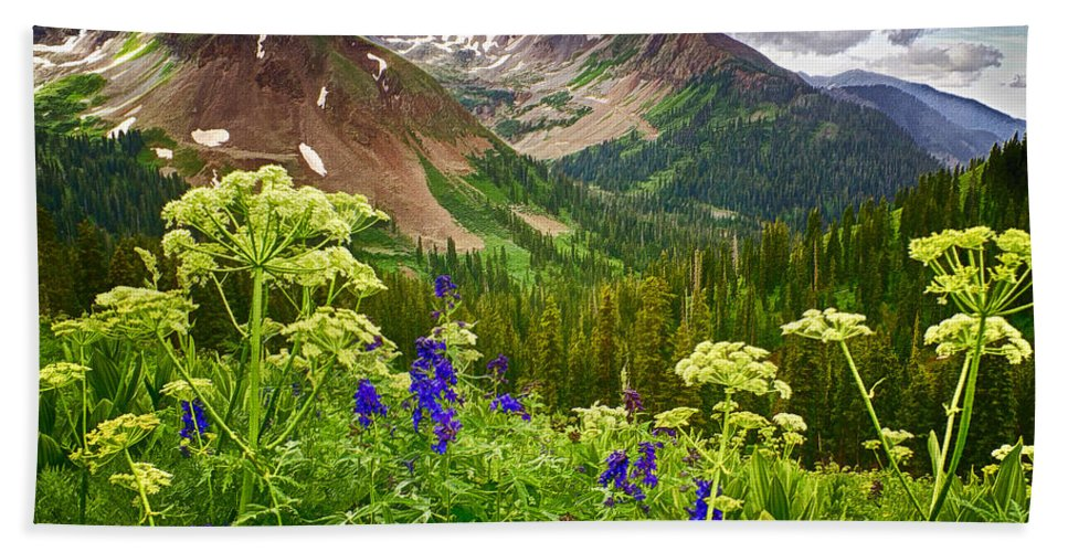 La Plata Mountains Hand Towel featuring the photograph Mountain Majesty by Priscilla Burgers