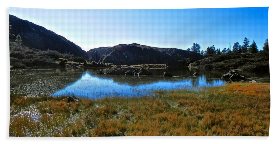 Beautiful Hand Towel featuring the photograph Mountain Marshes 3 by Joe Wyman