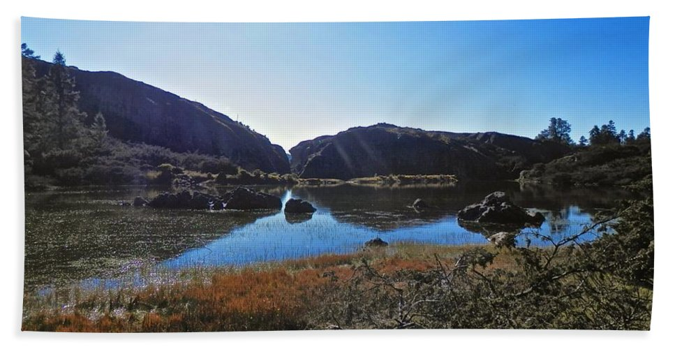 Beautiful Hand Towel featuring the photograph Mountain Marshes 4 by Joe Wyman