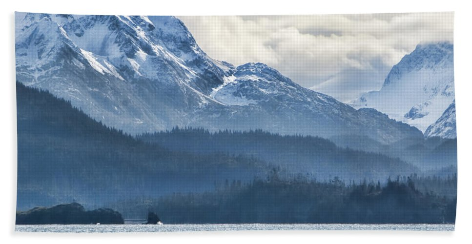 Mountain Mist Bath Sheet featuring the photograph Mountain Mist by Phyllis Taylor