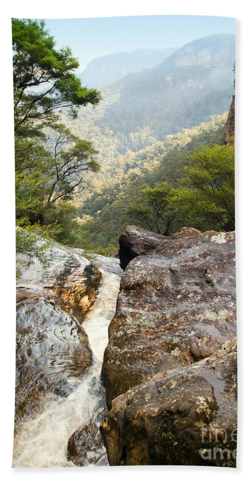 Australia Bath Sheet featuring the photograph Mountain River by Tim Hester