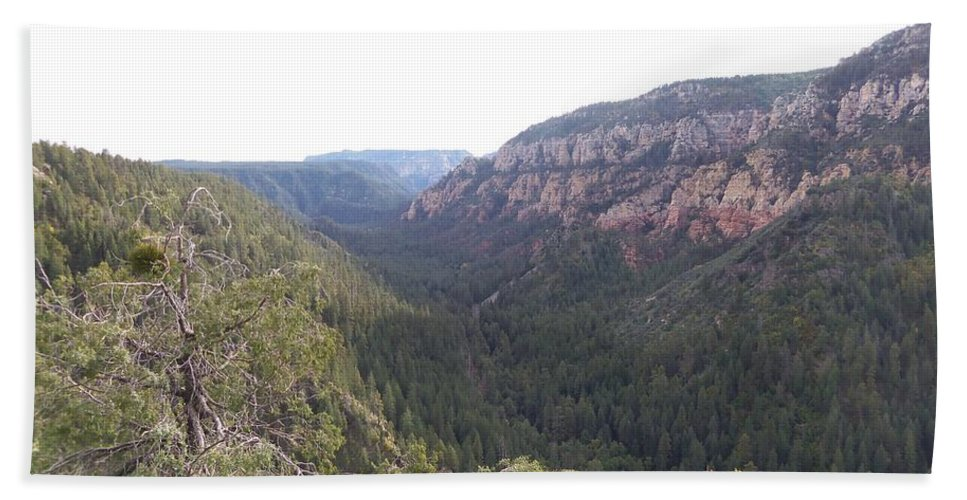 Arizona Bath Sheet featuring the photograph Mountain Road by Two Bridges North