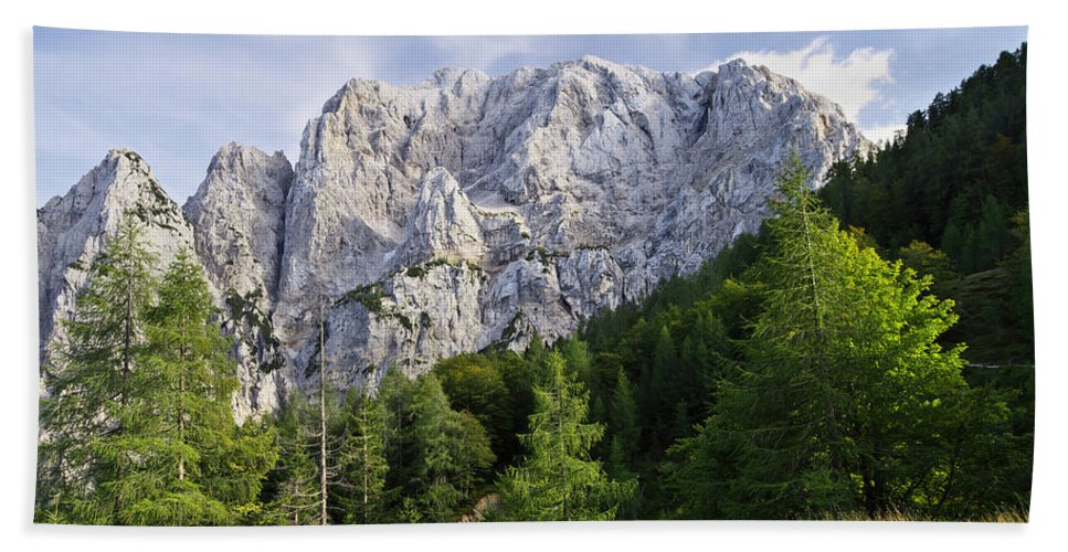 Peak Bath Sheet featuring the photograph Mountain Scene by Ivan Slosar