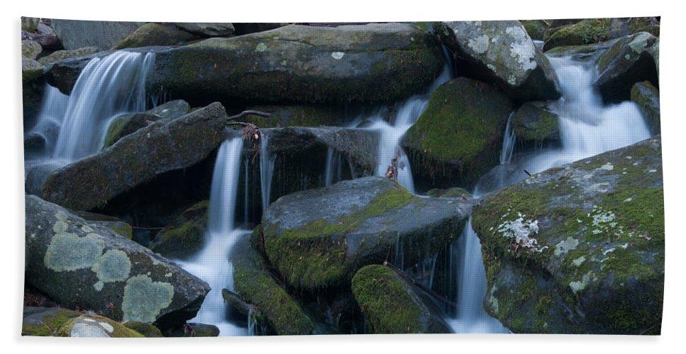 Mountain Bath Sheet featuring the photograph Mountain Stream by Randy Walton