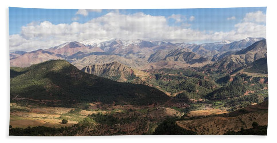 Photography Hand Towel featuring the photograph Mountains Along N9, Al Haouz by Panoramic Images