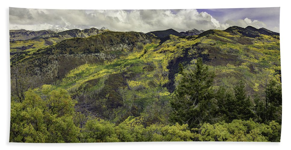 Landscape Hand Towel featuring the photograph Mountains Of Color by Bill Sherrell