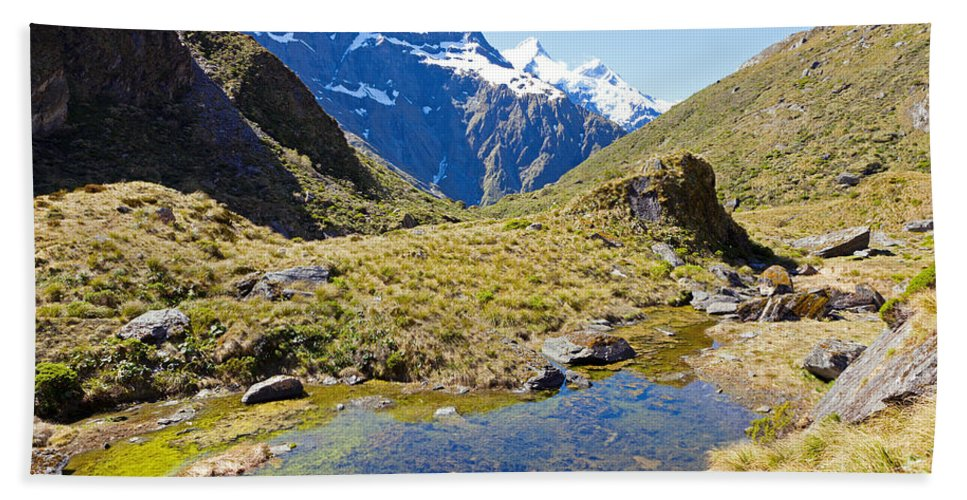 Mountain Hand Towel featuring the photograph Mountains Of New Zealand by Alexey Stiop