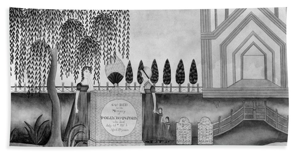 1815 Hand Towel featuring the painting Mourning C1815 by Granger