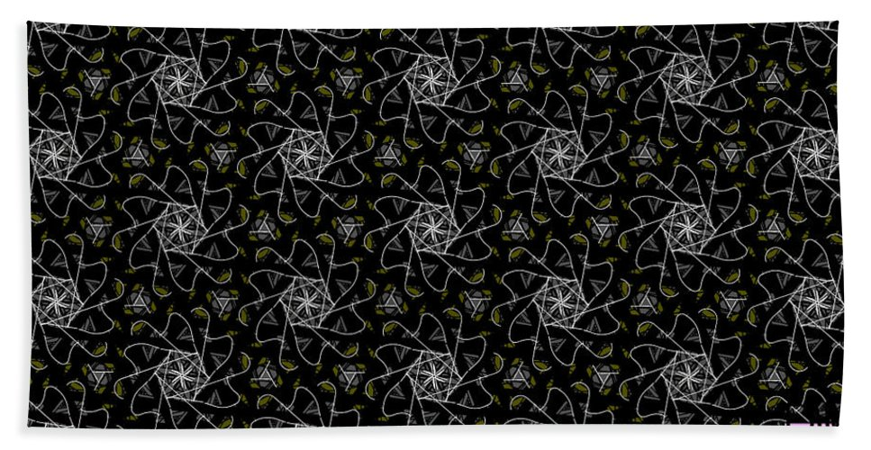 Mourning Weave Bath Sheet featuring the digital art Mourning Weave by Elizabeth McTaggart