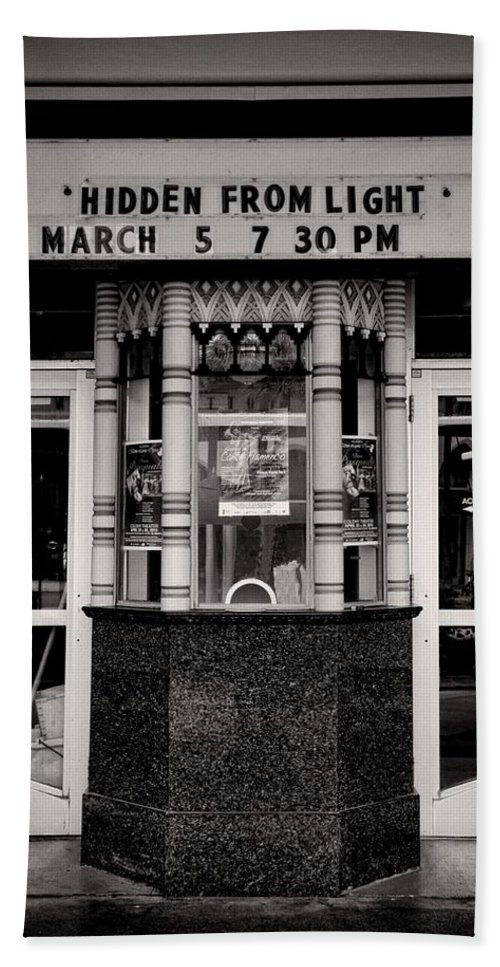Building Bath Sheet featuring the photograph Movie Theater by Rudy Umans