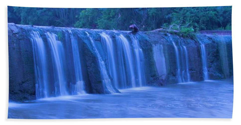 Moving Water Hand Towel featuring the photograph Spring Waterfall by Dan Sproul
