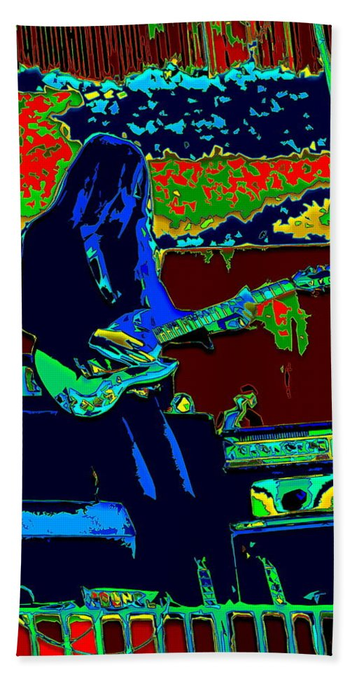 Frank Marino Hand Towel featuring the photograph Mrdog # 71 Psychedelically Enhanced by Ben Upham