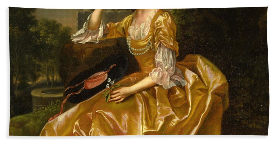 Francis Hayman Bath Sheet featuring the painting Mrs. Mary Chauncey by Francis Hayman