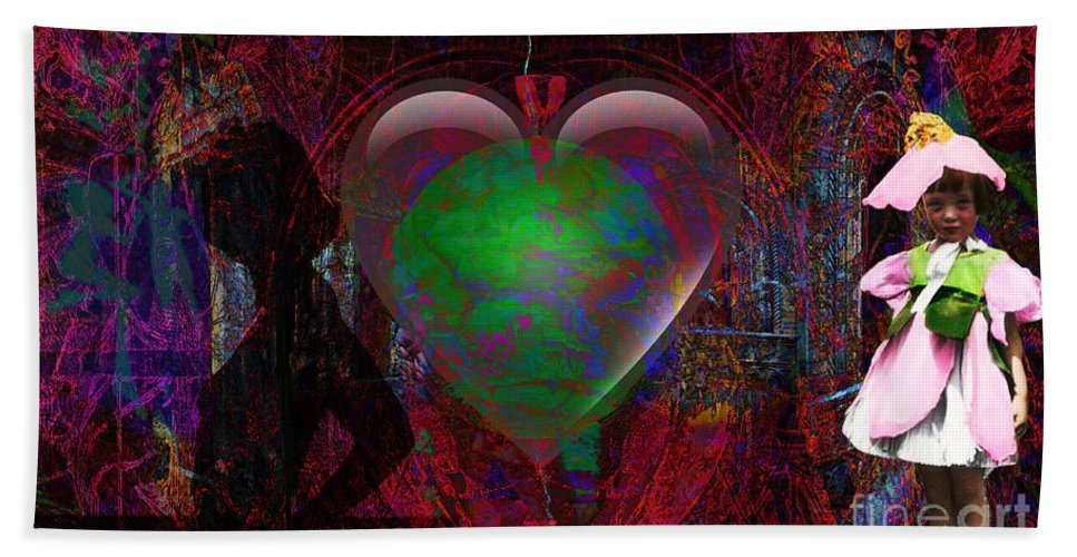 Love Hand Towel featuring the digital art Mucha Love by Joseph Mosley
