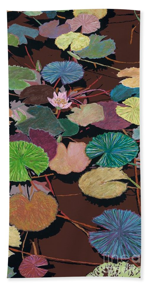 Landscape Bath Towel featuring the painting Muddy Waters by Allan P Friedlander