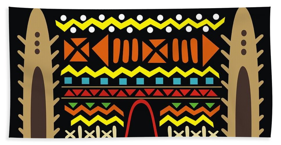 Mudhouse Hand Towel featuring the digital art Mudhouse by Adinke Inc
