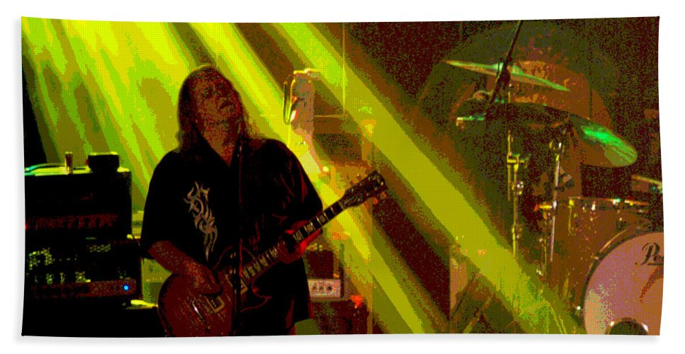 Gov't Mule Bath Sheet featuring the photograph Mule #12 Enhanced 4 by Ben Upham