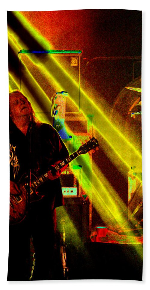 Gov't Mule Bath Sheet featuring the photograph Mule #12 Enhanced Crop 2 by Ben Upham