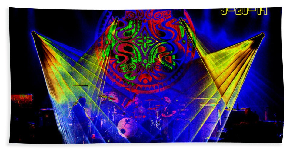 Gov't Mule Bath Sheet featuring the photograph Mule #14 Enhanced Image With Text by Ben Upham