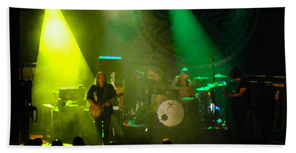 Gov't Mule Bath Sheet featuring the photograph Mule #7 Enhanced Image by Ben Upham