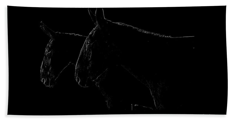Mules Bath Sheet featuring the photograph Mules by Ericamaxine Price