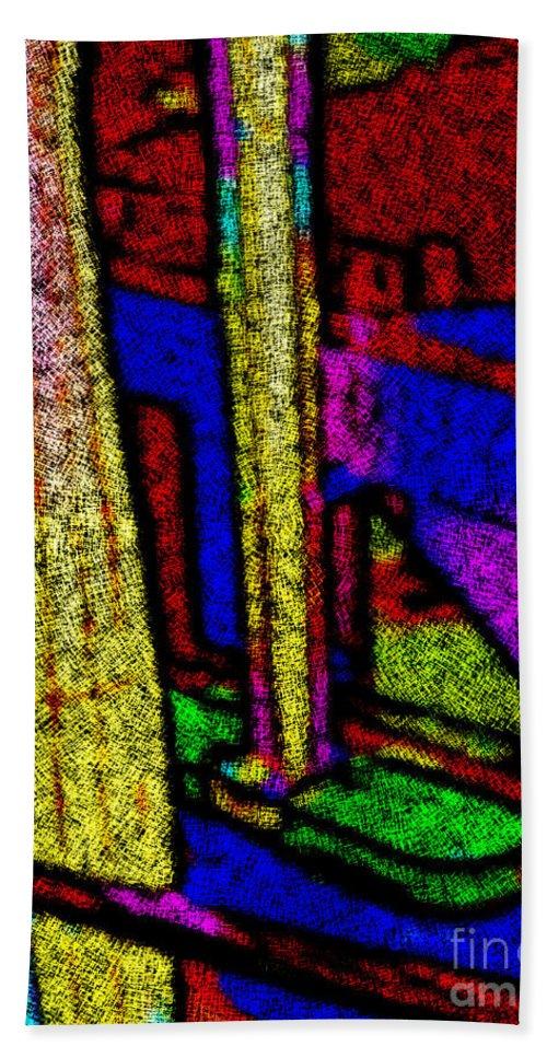Colorful Columns Bath Sheet featuring the digital art Multi Sensation Colors by Carlos Tello