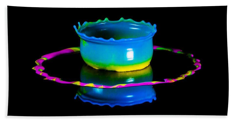 Water Bath Sheet featuring the photograph Multicoloured Bowl by Jaroslaw Blaminsky