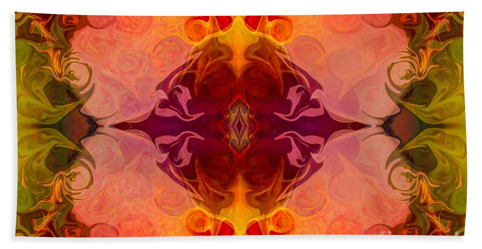 2x3 (4x6) Hand Towel featuring the digital art Multilayered Realities Abstract Pattern Artwork By Omaste Witkow by Omaste Witkowski