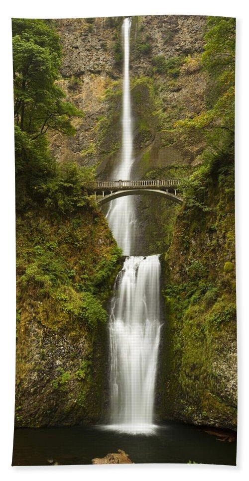 Water Bath Sheet featuring the photograph Multnomah Falls 2 A by John Brueske