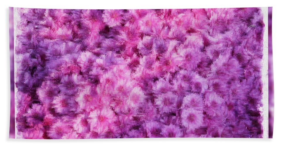 Flowers Bath Sheet featuring the photograph Mums In Purple - Featured In 'comfortable Art' And 'nature Photography' Groups by Ericamaxine Price