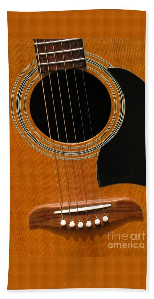 Guitar Bath Sheet featuring the photograph Musical Abstraction by Ann Horn
