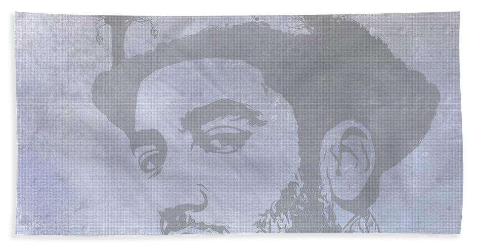 Musical Mind Of Ben Harper Bath Sheet featuring the digital art Musical Mind Of Ben Harper by Dan Sproul