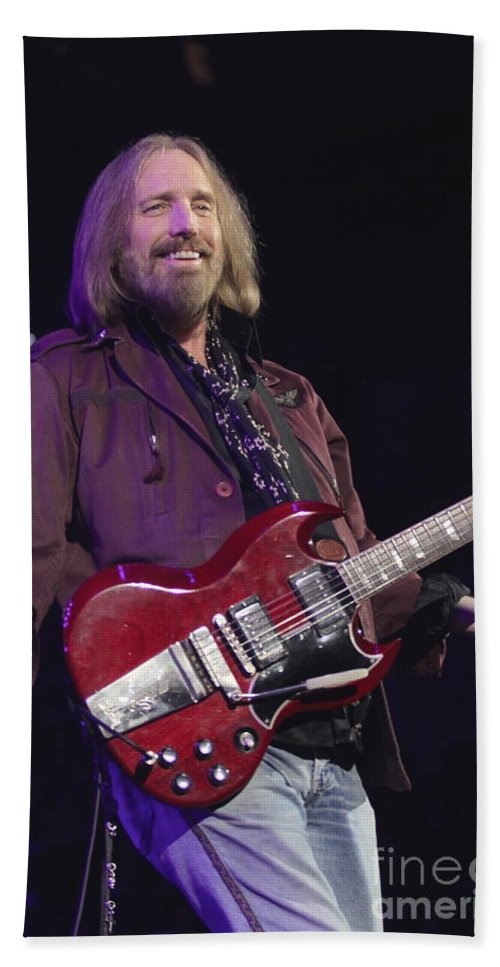 Singer Hand Towel featuring the photograph Tom Petty by Concert Photos