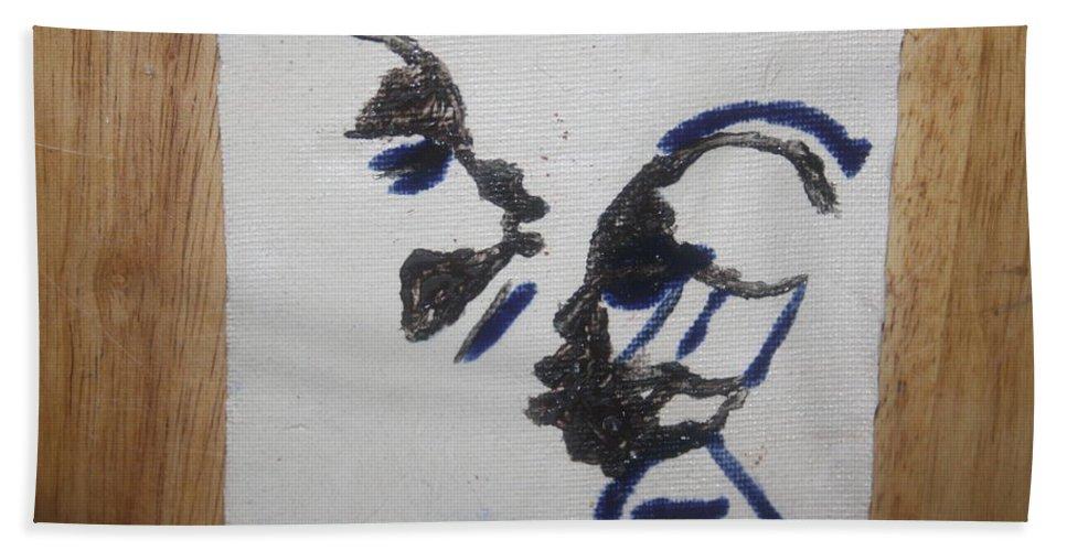 Jesus Bath Sheet featuring the ceramic art Musicman - Tile by Gloria Ssali