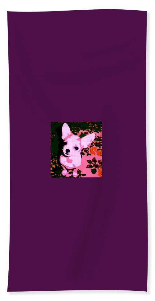Chihuahua Hand Towel featuring the photograph My Heart Belongs To Chachi by Leah Delano
